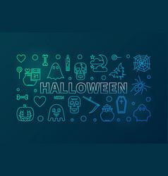 halloween creative colorful line horizontal vector image