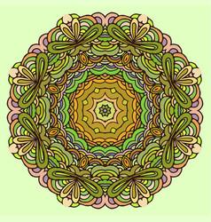 hand drawn mandala colorful vector image