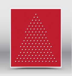 Happy Christmas and Happy New Year Red Poster vector image vector image