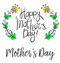happy mother day style collection vector image vector image