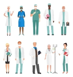 Hospital medical staff doctors Group of doctors vector