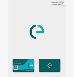 Initial ce or ec creative logo template and vector