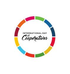International day cooperatives celebration vector