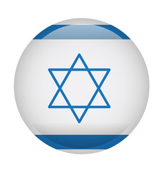 isolated flag of israel vector image