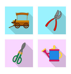 isolated object of farm and agriculture logo vector image