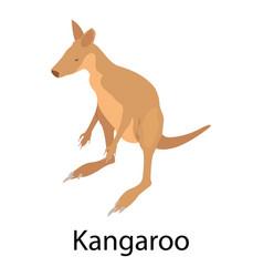 kangaroo icon isometric style vector image