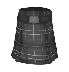 kilt icon in monochrome style isolated on white vector image