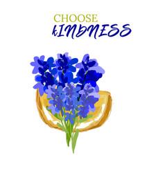 kindness design lavandula citrus slogan vector image