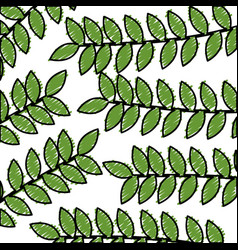 Leafy branch natural pattern vector