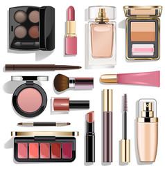 Mauve makeup collection vector