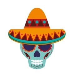 mexican Sugar Skull icon vector image
