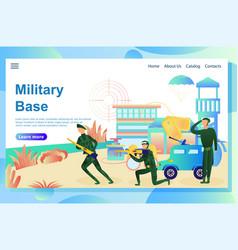 Military base vector