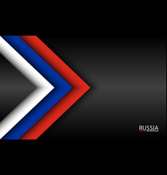 Modern overlayed arrows with russian colors and vector