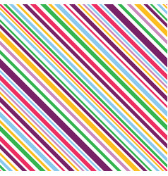 multi colored diagonal stripes seamless pattern vector image