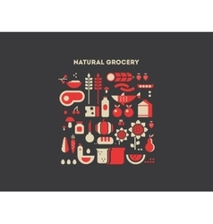 Natural grocery food vector image