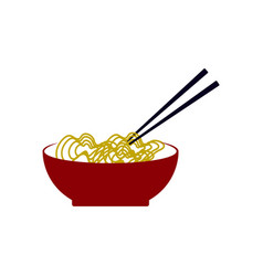 noodle ramen icon design template isolated vector image