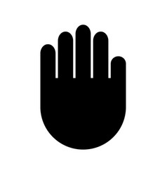 palm hand icon filled flat sign solid vector image