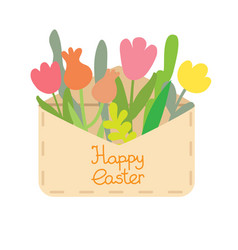 Paper mail envelope with a easter egg vector