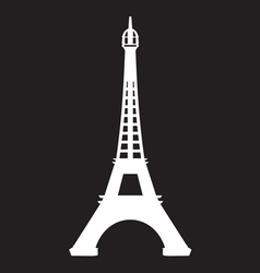 Paris - Eiffel Tower icon vector image