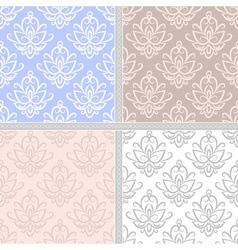 Pastel ethnic seamless pattern vector image