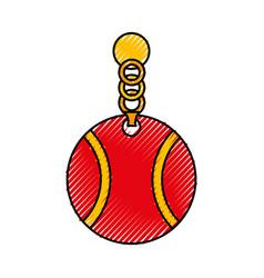 Pet collar with ball icon vector