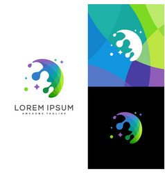 rain color design concept template vector image