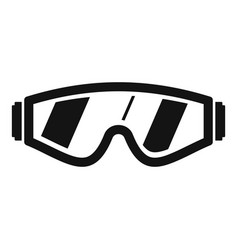 safety glasses icon simple style vector image