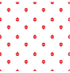 seamless symmetric pattern of christmas toy vector image