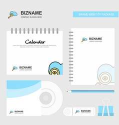 search on cloud logo calendar template cd cover vector image