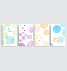 set covers with circles and different colored vector image