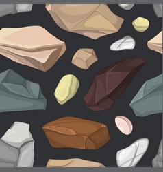set of stones pattern vector image