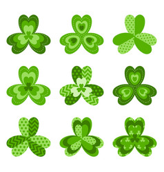 Shamrock leaves symbol of ireland vector