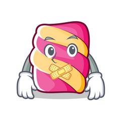 Silent marshmallow character cartoon style vector
