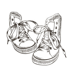Sketch sneakers vector