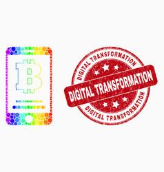 Spectrum dot bitcoin mobile account icon vector