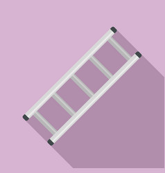 Steel ladder icon flat style vector