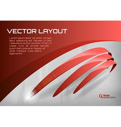 stripes red vector image