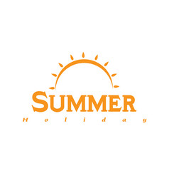 Summer holiday sun rise background image vector