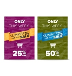 Summer Sale flyer template vector image