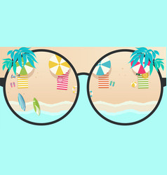 summer time tropical background sea and beach vector image