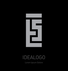 T and 5 initial logo ts - design element or icon vector