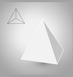 Tetrahedron is a geometric figure hipster fashion vector
