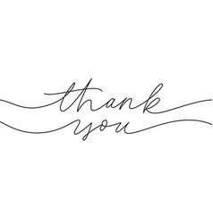 thank you hand drawn modern calligraphy vector image