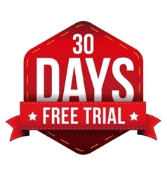 Thirty days free trial vector image