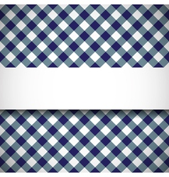 Tilted gingham plaid pattern vector image