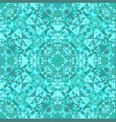 turquoise seamless kaleidoscope pattern vector image