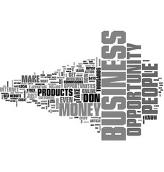 what is a business opportunity text word cloud vector image
