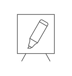 white board and marker vector image