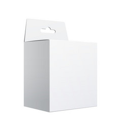 White package carton box with hang slot vector