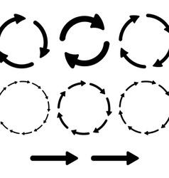 Arrow pictogram refresh reload rotation loop sign vector image